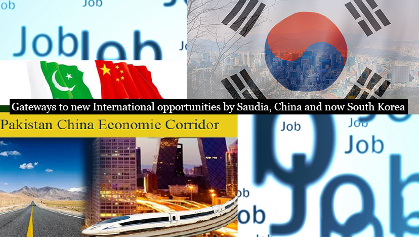 Gateways to new International opportunities by Saudia, China and now South Korea